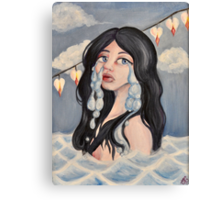 Don't Leave Me Drowning In My Tears Canvas Print