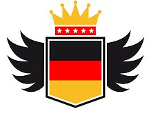 Germany coat of arms banner King by Style-O-Mat