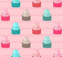 Patterned Cakes by Sidrah Mahmood