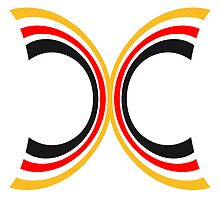Germany bow stripe flag by Style-O-Mat