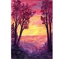 Sunset Trail - watercolor painting Photographic Print