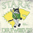 Stark Direwolves Mascot  by giovonni808