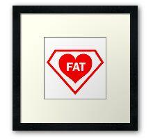 FAT HEART DIAMOND Framed Print
