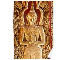 Thai style Buddha carving Poster