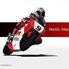 Norick Abe - YZR500 (Metal Prints and Tees) by axesent