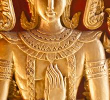 Thai style Buddha carving Sticker