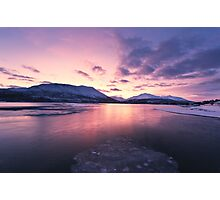 Twilight above a fjord in Norway Photographic Print