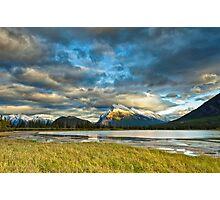 Sunset above Vermilion Lakes Photographic Print