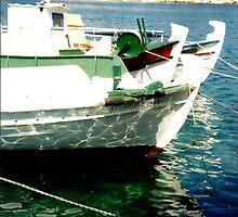 Kefalonian Boats by RachelMacht