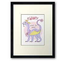 wear what you want Framed Print