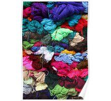 Bundles of Yarn at the Market Poster