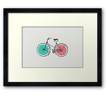 3D Bike Framed Print