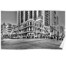 City of Perth - lunch rush hour Poster