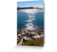 The channel at Urunga Greeting Card