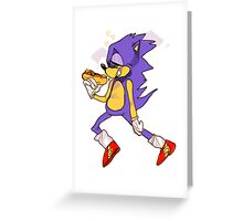 sonic!!! Greeting Card