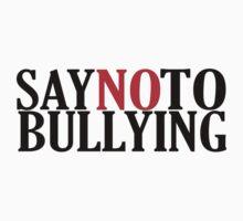 Say No To Bullying! Anti-Bullying T-Shirt by Netsubu