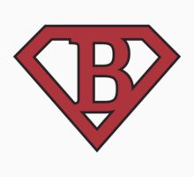 B letter in Superman style by florintenica