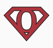 O letter in Superman style by florintenica