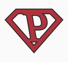 P letter in Superman style by Stock Image Folio