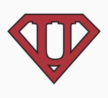 U letter in Superman style by florintenica