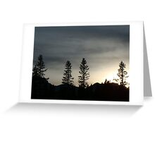Dusk In The Rockies Greeting Card