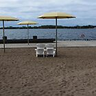 Beach Umbrellas with Two Chairs by Marie Van Schie