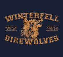 winterfell direwolves old school - orange by KFledderman