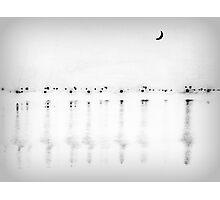 Sunset - Black and White Photographic Print