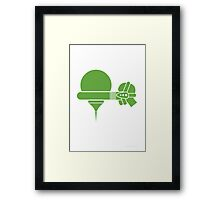 Heisenberg's Uncertainty Cancellator Framed Print