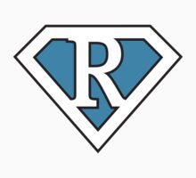 R letter in Superman style by Stock Image Folio