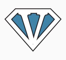 V letter in Superman style by Stock Image Folio