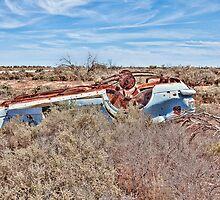 Bullet Hole ridden old car wreck! by Normf