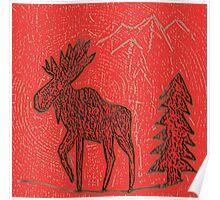 Red Moose Poster
