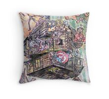 Avengers in the Woods Throw Pillow