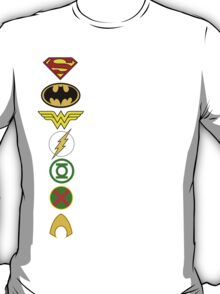 Justice League Logos T-Shirt