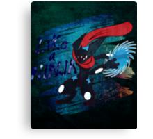 Like A Ninja ~ Shiny Canvas Print