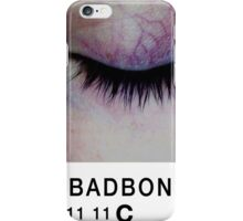 Bad Bone (Pantone) Closed Eyelid 11:11 iPhone Case/Skin