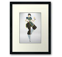 Chun Li - Street Fighter 8Bit Framed Print