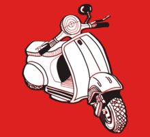 a scooter t-shirt solid by parko