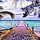 Rum Point Dock Cayman Islands by daphsam