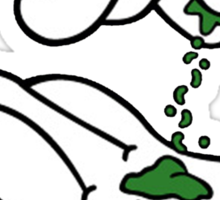 Mickey Hands Weed Sticker