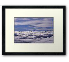 """Sobre las nubes y bajo el cielo. """" El Aconcagua"""" Framed Print"""