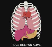 Hugs keep us alive Kids Clothes