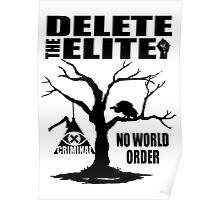 Illuminati - Delete The Elite Poster