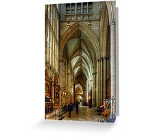 North East Aisle Greeting Card