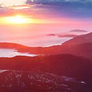 Sunset from Mt Oberon, Wilsons Promontory, Victoria Australia by Michael Boniwell