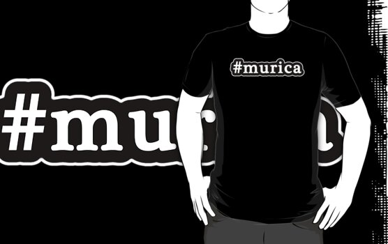 Murica - Hashtag - Black & White by graphix