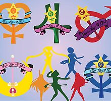 Feminist Sailor Scouts by thrdplanet