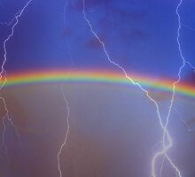 Rainbow and Lightning by Sandra  Aguirre
