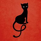 Red Gracious Evil Black Cat Case by Boriana Giormova